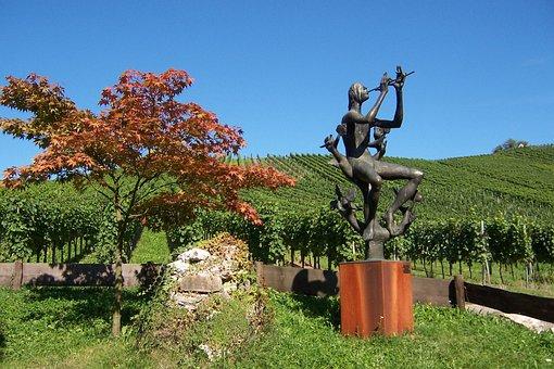 Landscape, Sculpture Path, Sculpture, Statue, Vineyard