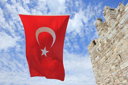 Turkey, Flag, Turks, Red