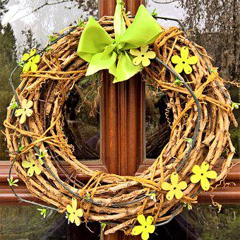 Door Wreath, Türdekoration, Willow Wreath