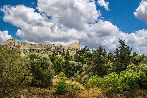 Acropolis, Greece, Athens, Greek, Hill, Hillside