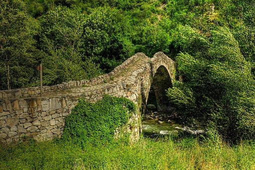 Medieval Bridge, Pont De La Margineda, Andorra