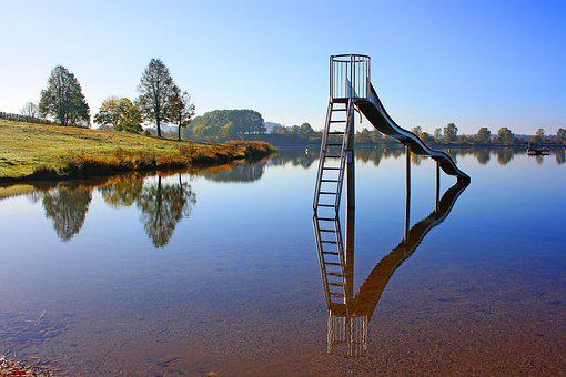 Losheimer Reservoir, Baderutsche, Silent Lake, Badesee