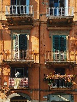 Window, Balcony, Life, Vintage, Pm, Street