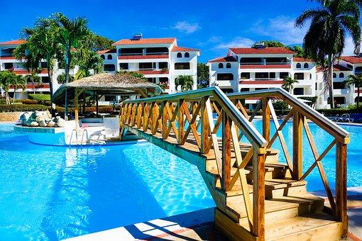 Hotel, Tropical, Tropics, Blue, Caribbean, Fun, Travel