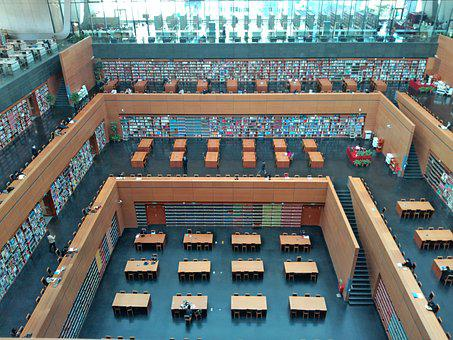 Beijing, The National Library, Library, Building, Book