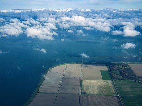 Netherlands, Nederland, Above, Boven, Field, Fields