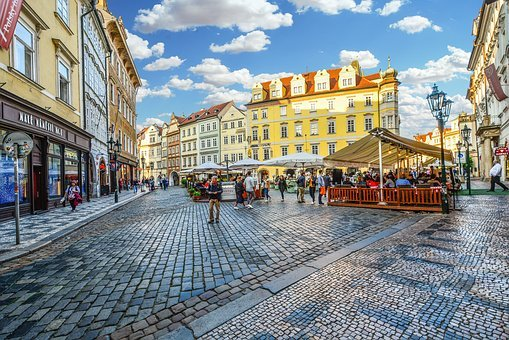Prague, Old Town, Czech, Cafe, Tourist, Travel, Square