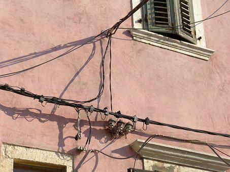 Cable, Electronics, Line, Outdoor, Croatia, Current