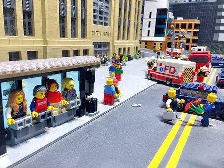 Lego, People, City, Toy, Person, Kid, Childhood, Cute