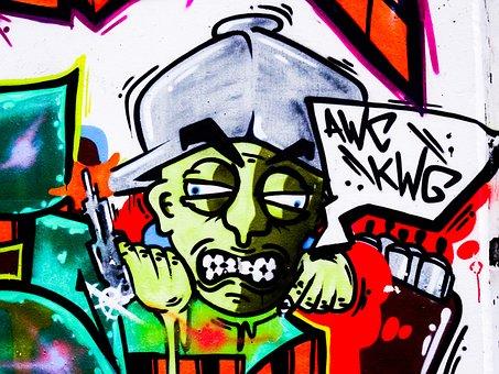 Graffiti, Letters, Font, Text, Decoration, Painted
