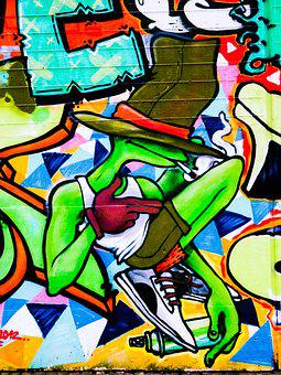 Graffiti, Hat, Frog, Decoration, Painted, Wall, Art
