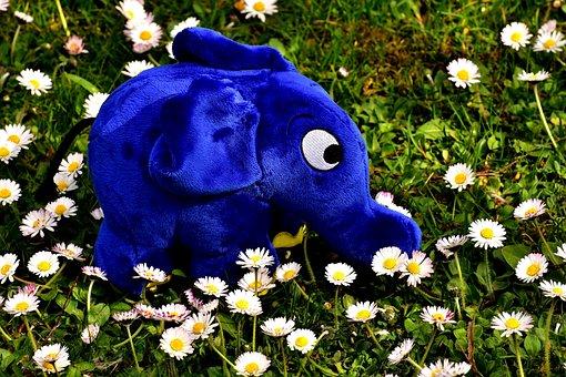 Elephant, Soft Toy, Teddy Bear, Stuffed Animal