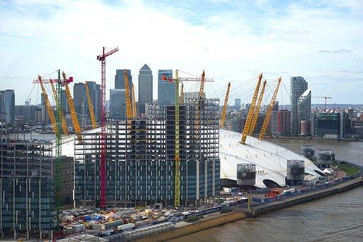 London, O2 Arena, England, Arena, Architecture, Dome