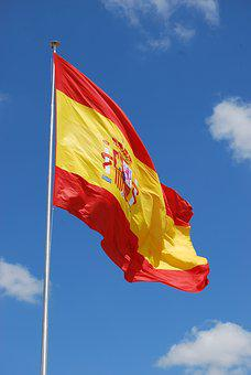 Spain, Spanish, Flag, Country