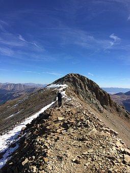 Lone Man, Hiking, Adventure, Summit, Explore, Journey