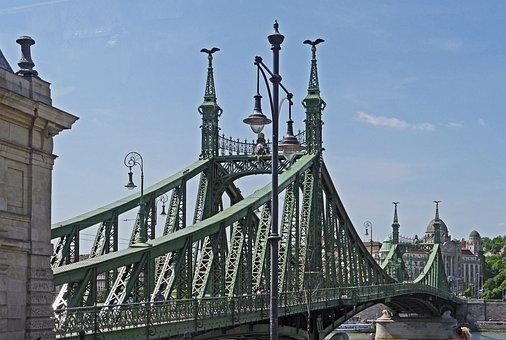 Budapest, Liberty Bridge, Danube Bridge, Danube, River