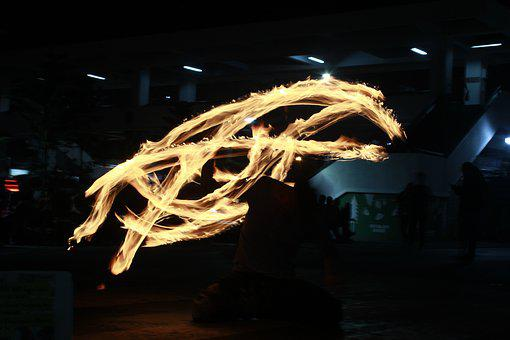 Fire Dancing, Light Painting, Light, Performance, Fire