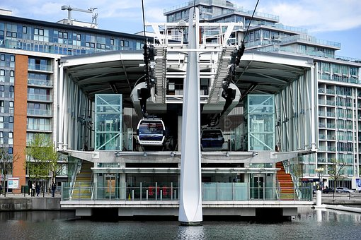 London, Cable Car, Cable, Car, England, River