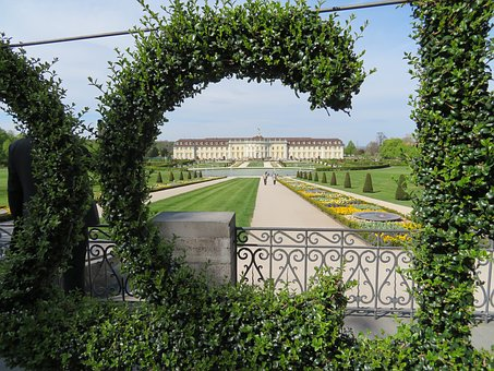 Ludwigsburg Germany, Castle, Park, Blühendes Baroque
