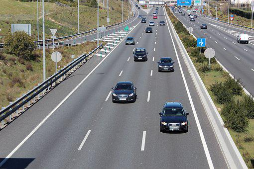 Highway, M 40, M 30, Madrid, Spain, Tourism, Cars
