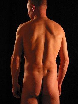 Spine, Move, Back, Man, Intervertebral Discs, Naked