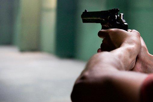 Gun, Hands, Black, Weapon, Man, Crime, Pistol, Danger