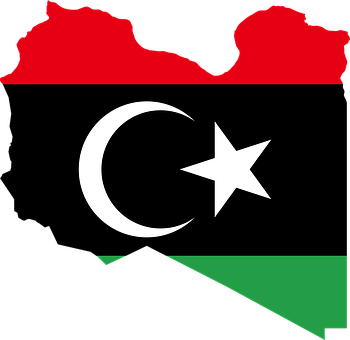 Arab, Borders, Country, Flag, Libya, Map, Middle East