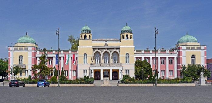 Hungary, Mohács, Town Hall, Moorish, Strange
