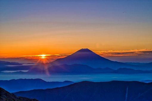 Mt Fuji, Sunrise, Morning Haze