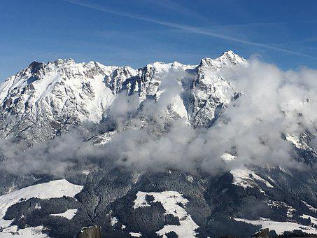 Mountains, Mountain, Clouds, Landscape, Nature, Sky