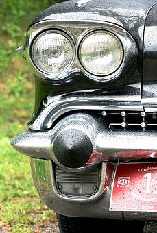 Cadillac, Chrome, Spotlight, Classic, Oldtimer
