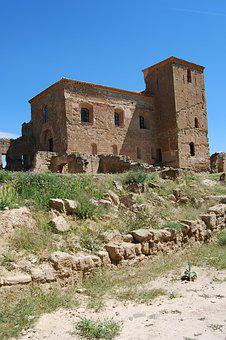 Quicena, Spain, Huesca, Aragon, Castle, Montearagon