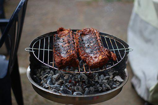 Grill, Spare Ribs, Summer, Barbecue, Own, Ribs, Meat