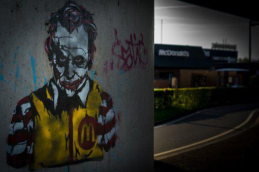 Mcdonalds, Ronald, Joker, Heath Ledger, Batman, Urban
