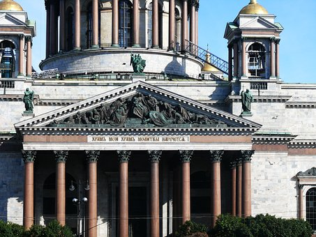 St Petersburg Russia, Saint Isaac's Cathedral, Temple