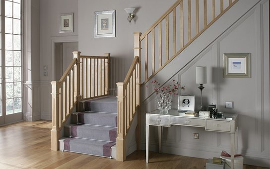 Staircase, Stairs, Entrance Hall, Oak Stairs