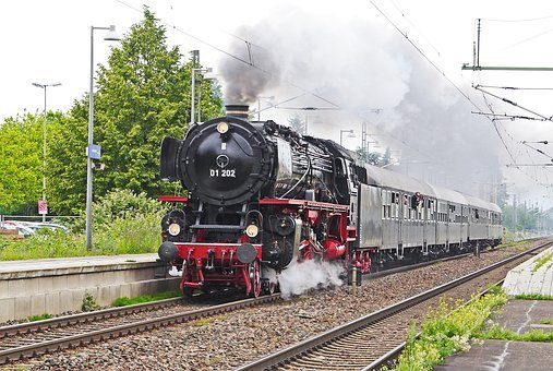 Steam Locomotive, Express Train, Transit, Breakpoint
