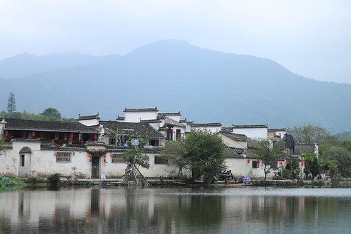 The Ancient Village, Ink, Landscape
