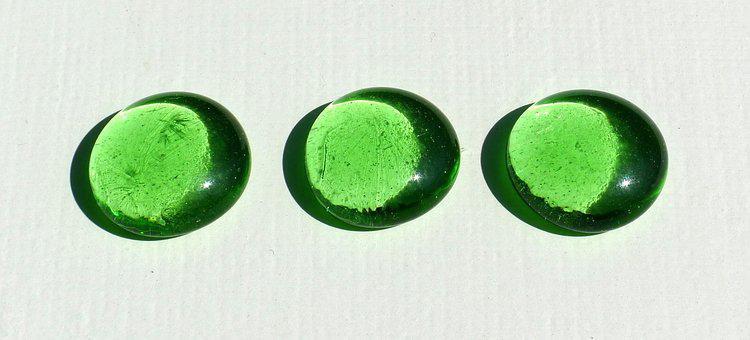 Pebbles, Glass, Green, Color, Transparent