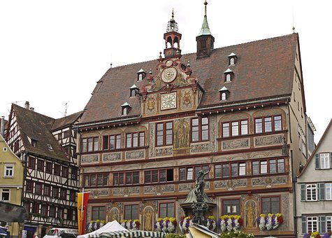 Tübingen, Town Hall, Stadtmitte, Farmers Local Market