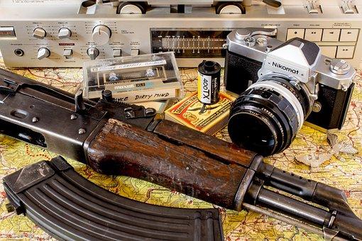 Weapon, Vietnam, Camera, War, Terror, Tape, Nikon, 1960