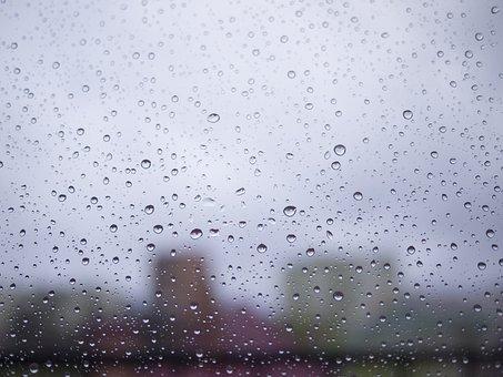 Drop, Rain, Rainy, Window, Weather, Grey, Gloomy, Sad