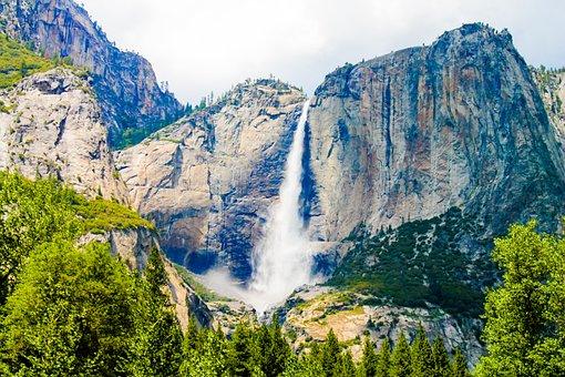 Yosemite, Fall, Mountain, California, Park, National