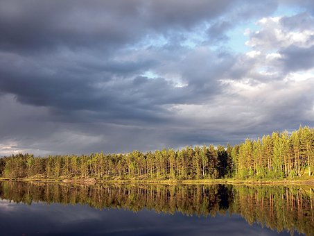 Aklangen, Ringerike, Forest, Secluded Forest Lakes