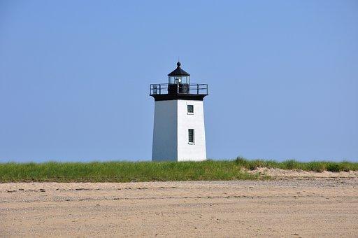 Light, Lighthouse, House, Coast, Sky, Ocean, Building