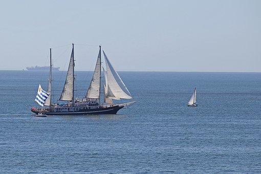 Caravelas, Boat, Ship, Mar, Blue, Water, Vessel, Browse