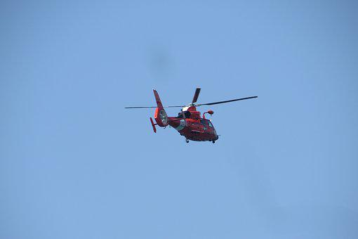 Helicopter, Chopper, Copter, Sky, Flying