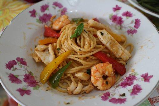 Chinese Food, Dish, Food, Asian, Spaghetti