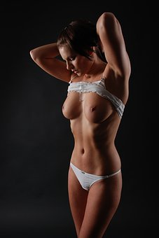 Half Nude, Naked, Woman, Sexy, Erotic, Body, Breasts