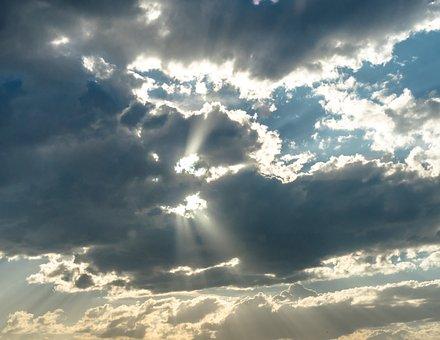 Clouds, Sun, Rays, Twilight, Dawn, God, Sky, Sunset